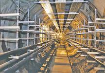 Кабельные эстакады в тонелях-1