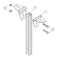 Крепление уголков монтажных (УМ) к стойке подвеса (СПТ)