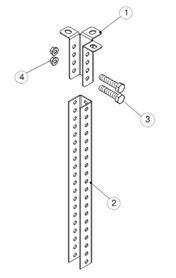 Крепление унитарного кронштейна потолочного (УКП) к стойке подвеса (СПТ)1
