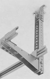 Крепление унитарного кронштейна потолочного (УКП) к стойке подвеса (СПТ)2