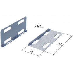 Соединительная пластина для соединения лотков